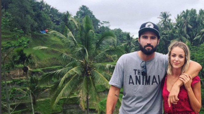 Brody Jenner dan kekasihnya, Kaitlynn Carter di Bali.