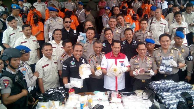 Kepala BNN Komjen Budi Waseso di Polda Metro Jaya