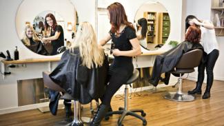 Ilustrasi salon kecantikan.