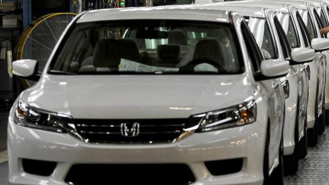 Pabrik perakitan mobil Honda.