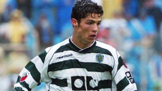 Cristiano Ronaldo muda saat masih memperkuat Sporting Lisbon.