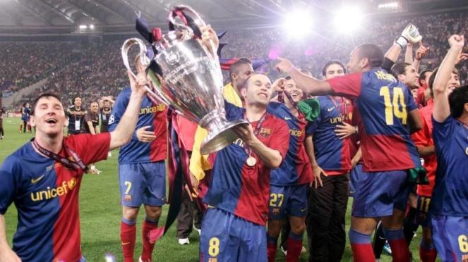 Barcelona usai menjuarai Liga Champions 2009