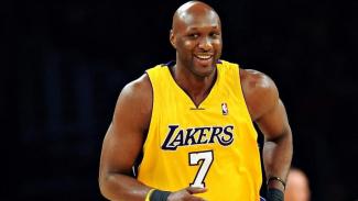 Lamar Odom ketika membela LA Lakers