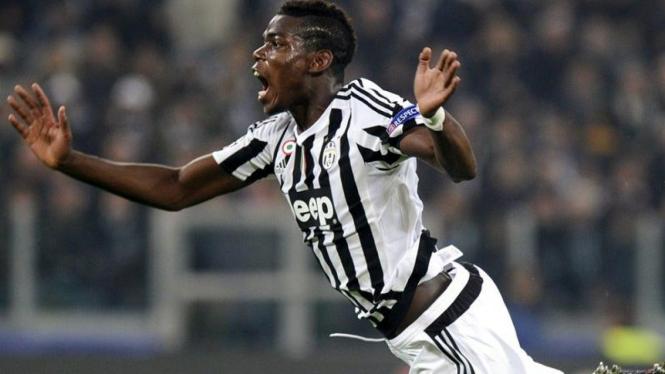 Gelandang Juventus, Paul Pogba.