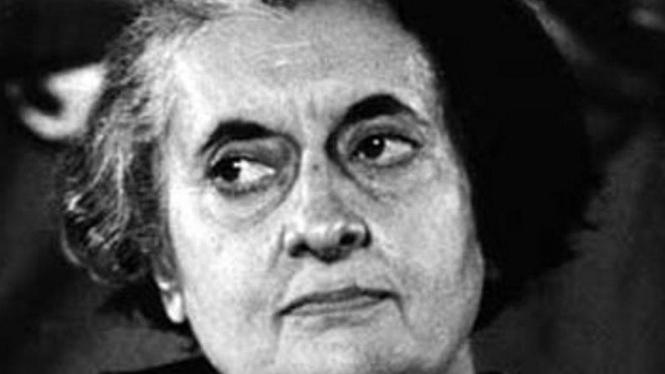 Mendiang Perdana Menteri India Indira Gandhi.
