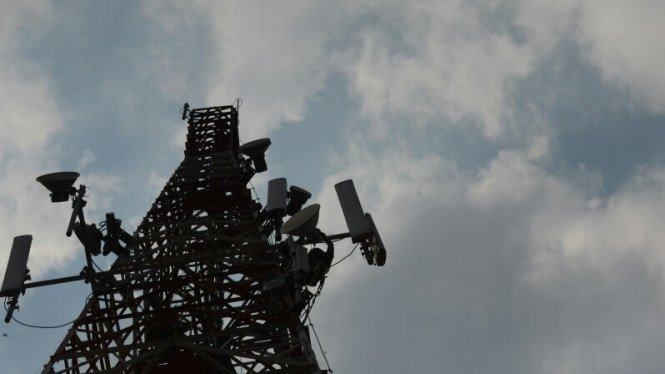 Ilustrasi/Perawatan Base Transreceiver Station (BTS) 4G.