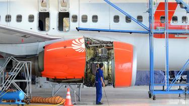 Ilustrasi bengkel pesawat Lion Air