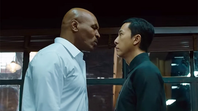 Mike Tyson dan Donnie Yen di film Ip Man 3