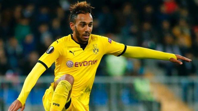 Penyerang Borussia Dortmund, Pierre-Emerick Aubameyang