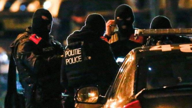 Ilustrasi Polisi khusus Belgia tangkap sejumlah terduga teroris di Brussels
