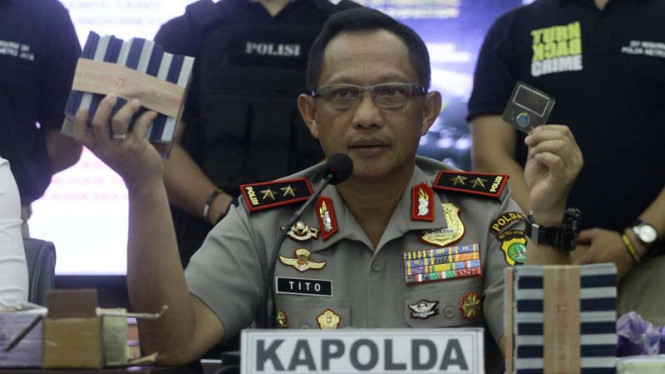 Tito Karnavian saat menjadi Kapolda Metro Jaya