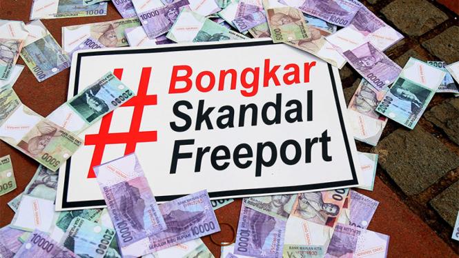 Unjuk Rasa HMI Bongkar Skandal Freeport