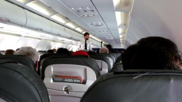 Ilustrasi kabin pesawat.