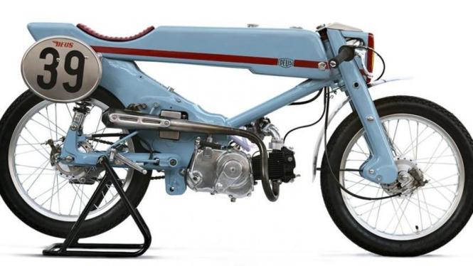 Gambar Modifikasi Sepeda Motor Jadul Bingung Modifikasi Motor Jadul Super Cub Tiru Gaya Ini