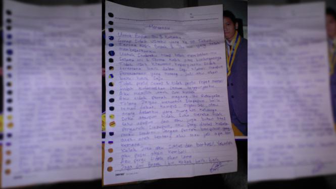 Sepucuk Surat Erri untuk Orang Tuanya setelah Gabung Gafatar