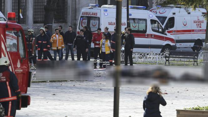 Ilustrasi ledakan bom di Turki.