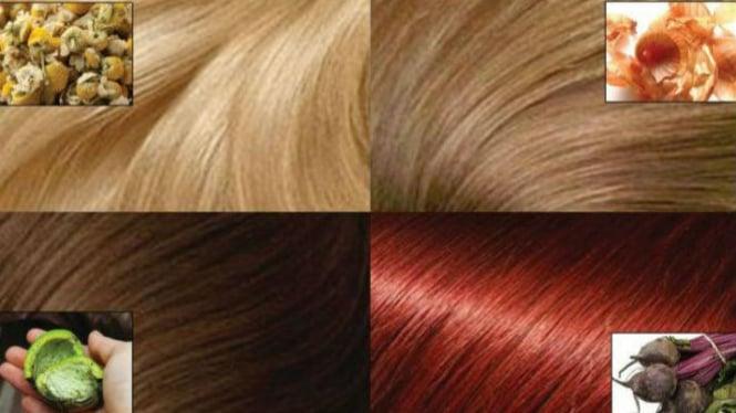 Pewarna rambut dari bahan alami.