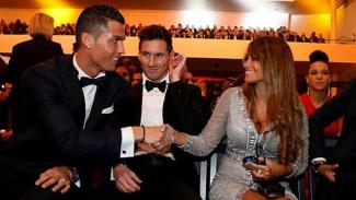 Cristiano Ronaldo, Lionel Messi dan Antonella Roccuzzo