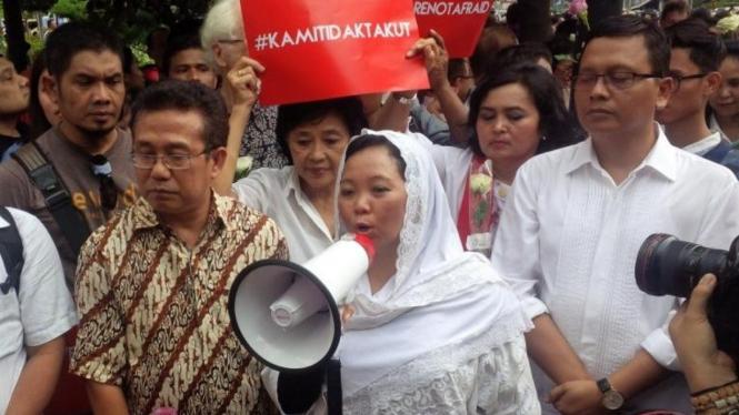 Aksi Solidaritas Bom Sarinah, Jakarta, 15 Januari 2016