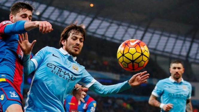 Pemain Manchester City, David Silva.