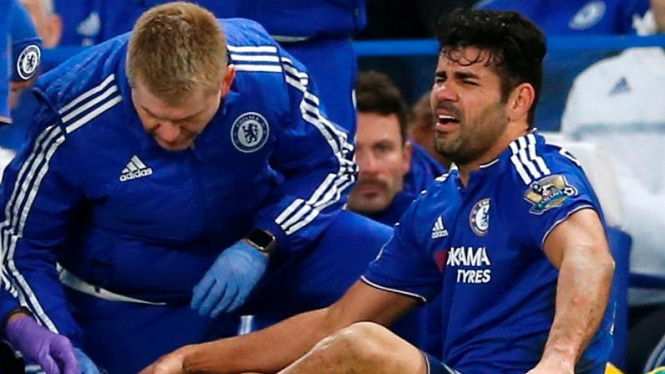 Penyerang Chelsea, Diego Costa, mengalami cedera.