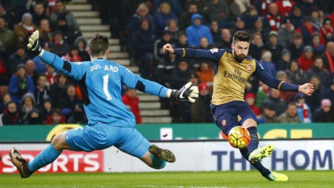 Ilustrasi pertandingan Stoke City vs Arsenal