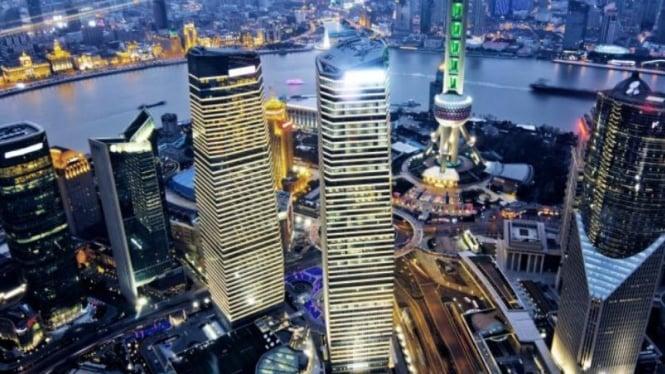 Ilustrasi pertumbuhan ekonomi China.