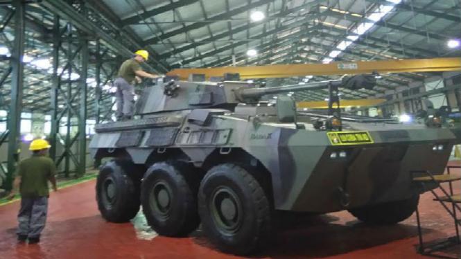 Ilustrasi tank buatan PT Pindad