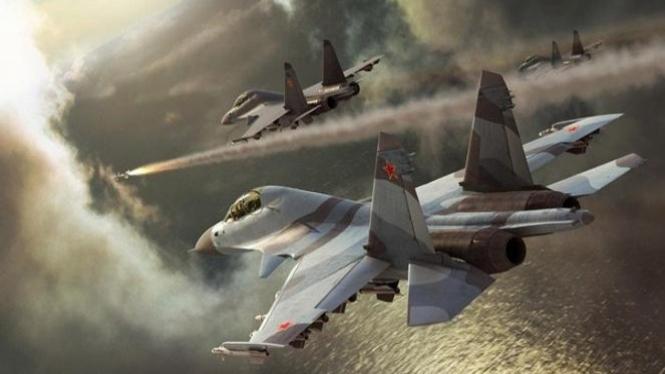 Pesawat perang Rusia.