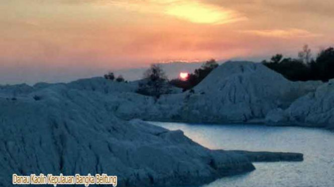 Danau Kaolin, Bangka Belitung.