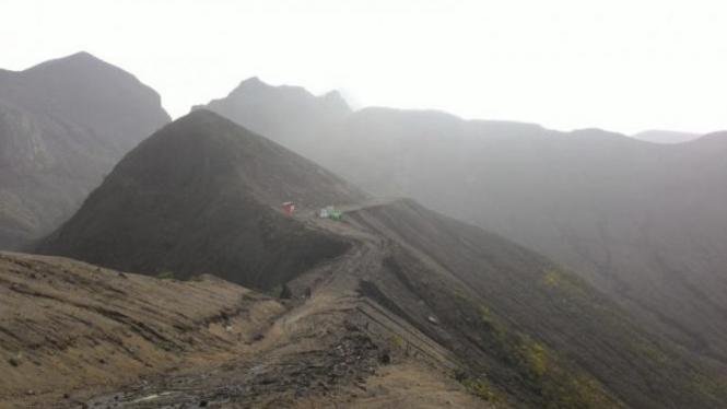 Wajah baru gunung Kelud di 2016.