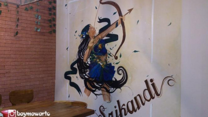 Interior di Mlinjo Resto n Cafe, Jakarta.