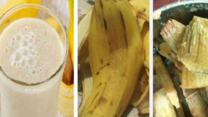 Smoothies kulit pisang.