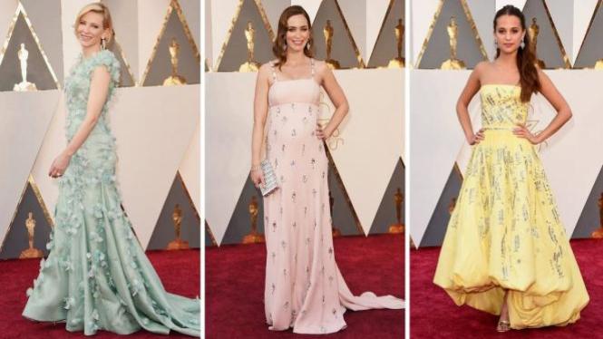 Para peraih busana terbaik di Oscar 2016.