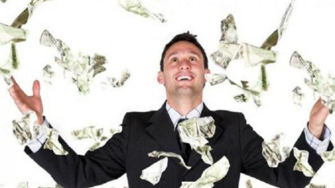 Ilustrasi pria kaya-raya.