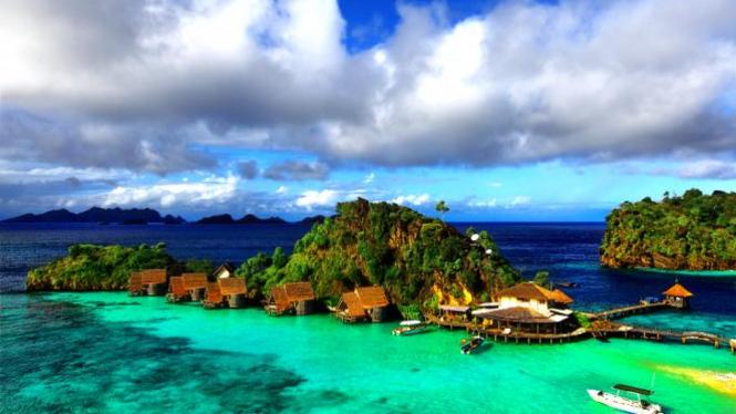 Pulau Misool di Raja Ampat, Papua.