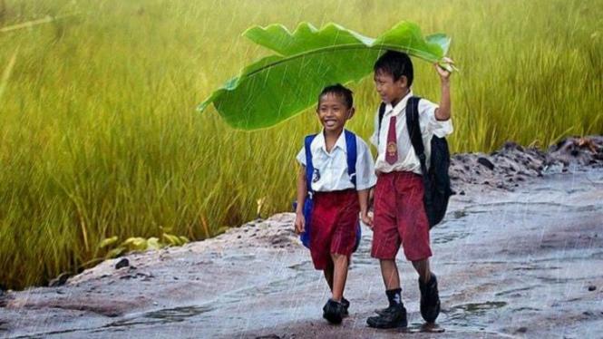 Anak-anak Indonesia/Ilustrasi.