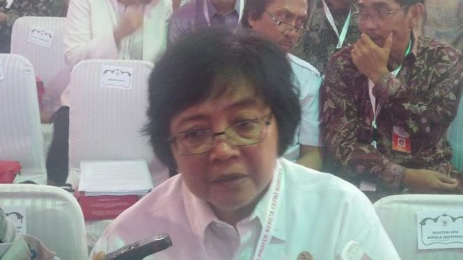 Menteri Lingkungan Hidup dan Kehutanan (LH), Siti Nurbaya.