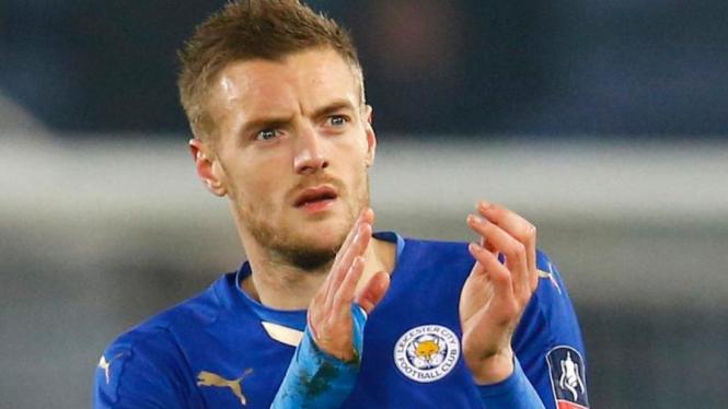 Penyerang Leicester City, Jamie Vardy.