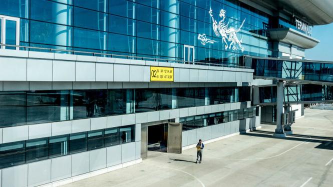 Sunan International Airport di Pyongyang