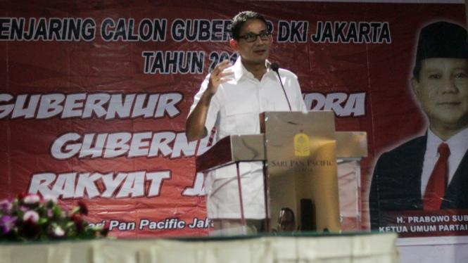 Sandiaga Uno siap bersaing dengan Ahok di Pilkada DKI Jakarta