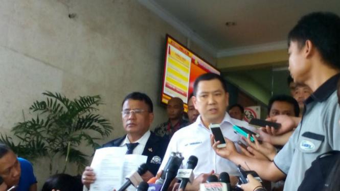 Ketum DPP Partai Perindo dan bos MNC Grup, Hary Tanoesoedibjo di Mabes Polri.