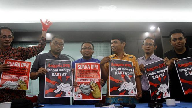 Aksi penolakan rencana revisi UU KPK