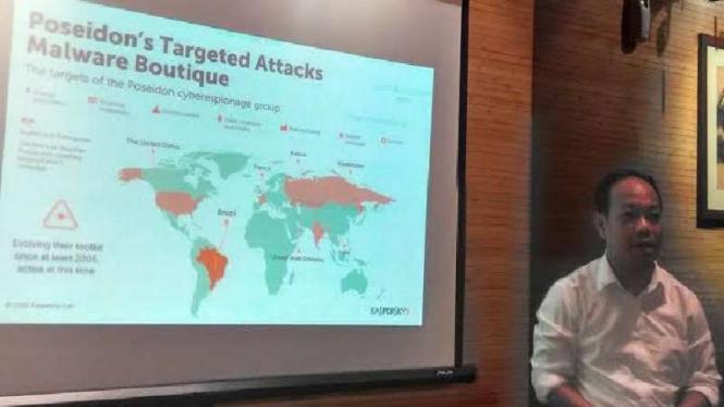 Konferensi pers Kaspersky soal potensi serangan peretas global