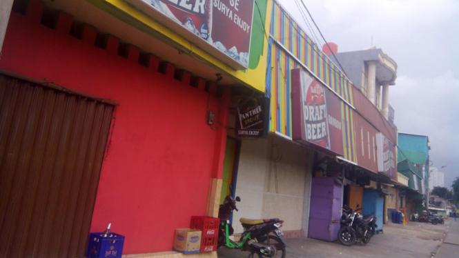 Sejumlah kios di kawasan Kalijodo, Jakarta Barat.