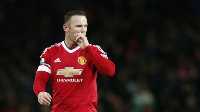 Kapten Manchester United, Wayne Rooney.