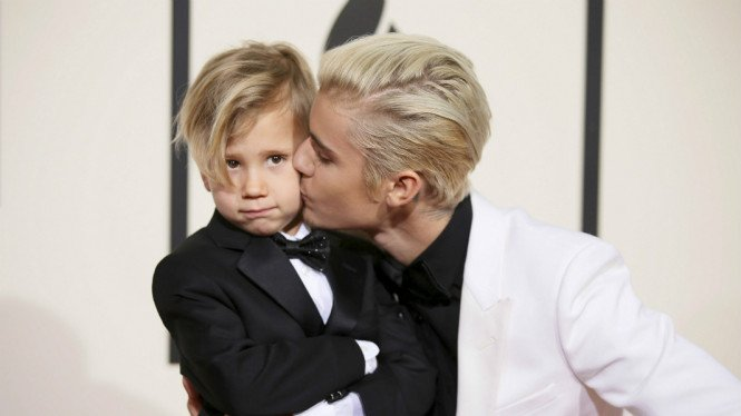 Justin Bieber dan adiknya, Jaxon.