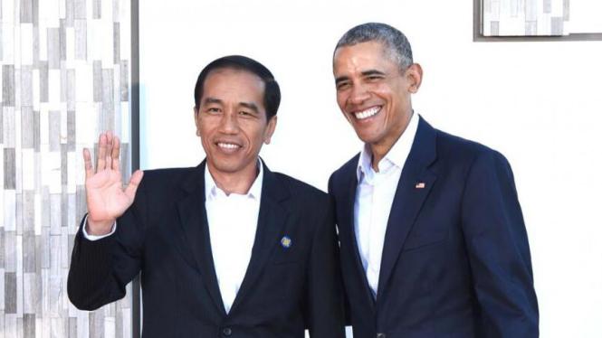 Presiden RI Jokowi dan Presiden ke-44 Amerika Serikat Barack Obama.