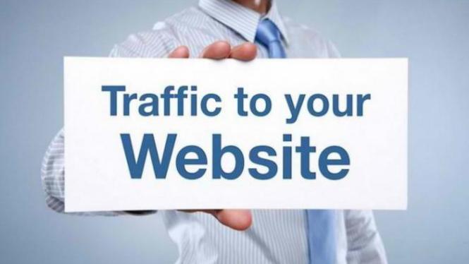 Ilustrasi trafik website.