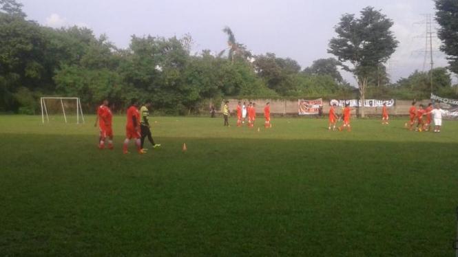 Persija Jakarta saat sedang berlatih.